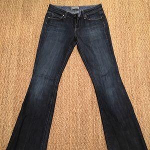 Paige Laurel Low Rise Long Denim Jeans Size 27 4